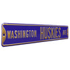 Washington Huskies Steel Street Sign-WASHINGTON HUSKIES AVE