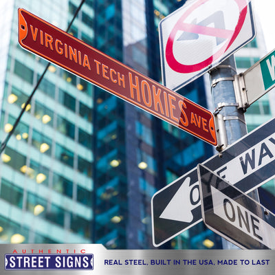 Virginia Tech Hokies Steel Street Sign-VIRGINIA TECH HOKIES AVE