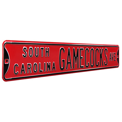 South Carolina Gamecocks Steel Street Sign-SOUTH CAROLINA GAMECOCKS AVE