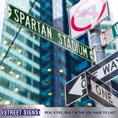 Michigan State Spartans Steel Street Sign-SPARTAN STADIUM