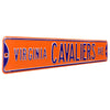 Virginia Cavaliers Steel Street Sign-VIRGINIA CAVALIERS AVE orange