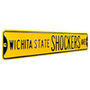 Wichita State Shockers Steel Street Sign-WICHITA STATE SHOCKERS AVE