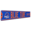 Boise State Broncos Steel Street Sign with Vintage Logo-BLUE TURF BLVD