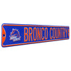 Boise State Broncos Steel Street Sign with Vintage Logo-BRONCO COUNTRY