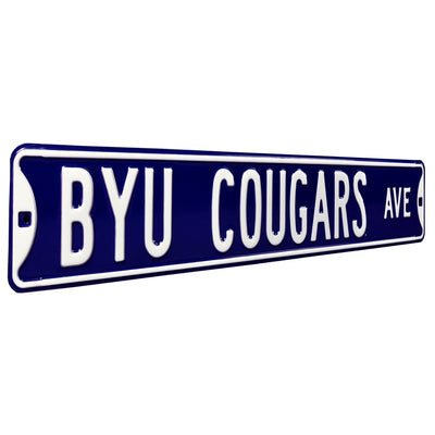 BYU Cougars Steel Street Sign-BYU COUGARS AVE