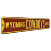 Wyoming Cowboys Steel Street Sign-WYOMING COWBOYS AVE on Brown