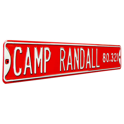 Wisconsin Badgers Steel Street Sign-CAMP RANDALL