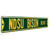 North Dakota State Steel Street Sign-NDSU BISON BLVD