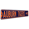 Auburn Tigers Steel Street Sign-AUBURN TIGERS AVE on Navy
