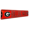 Georgia Bulldogs Steel Street Sign with Logo-BULLDOG NATION