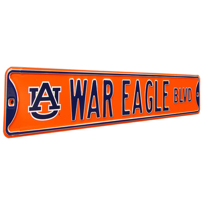 Auburn Tigers Steel Street Sign with Logo-WAR EAGLE BLVD