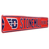 Dayton Flyers Steel Street Sign with Logo-STONEMILL ROAD
