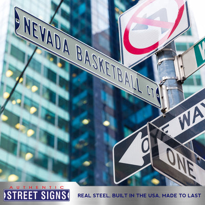 Nevada Wolfpack Steel Street Sign-NEVADA BASKETBALL CT