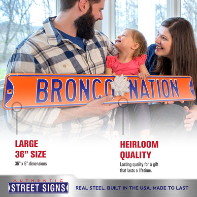 Boise State Broncos Steel Street Sign-BRONCO NATION