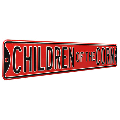 Nebraska Cornhuskers Steel Street Sign-CHILDREN OF THE CORN
