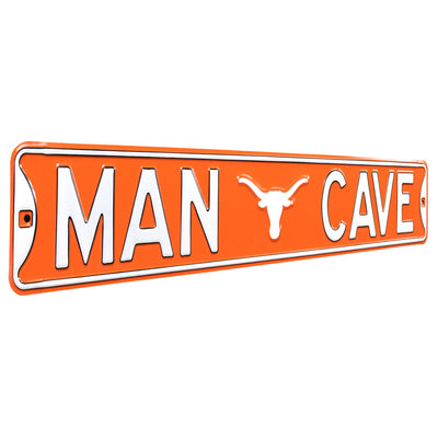Texas Longhorns Steel Street Sign with Logo-MAN CAVE