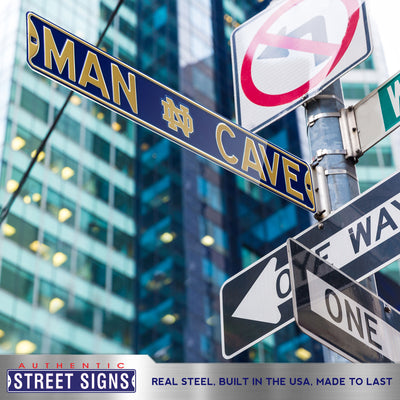 Notre Dame Steel Street Sign with Logo-MAN CAVE