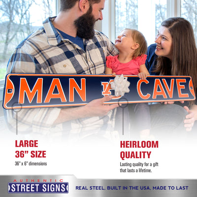 Auburn Tigers Steel Street Sign with Logo-MAN CAVE