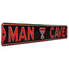 Texas Tech Red Raiders Steel Street Sign with Logo-MAN CAVE