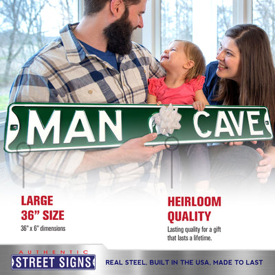 Michigan State Spartans Steel Street Sign with Logo-MAN CAVE