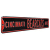 Cincinnati Bearcats Steel Street Sign-CINCINNATI BEARCATS AVE