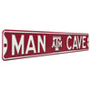 Texas A&M Aggies Steel Street Sign with Logo-MAN CAVE