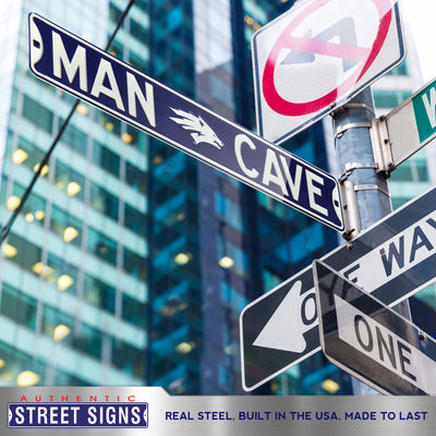 Nevada Wolfpack Steel Street Sign with Logo-MAN CAVE