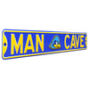 Delaware Blue Hens Steel Street Sign with Logo-MAN CAVE