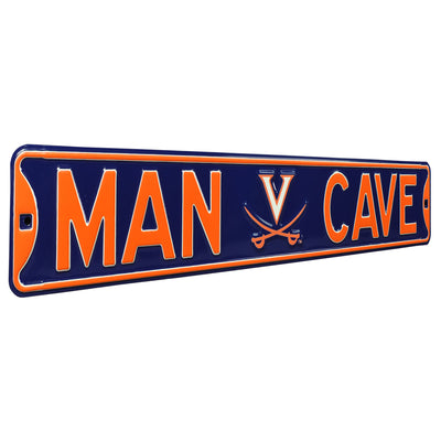 Virginia Cavaliers Steel Street Sign with Logo-MAN CAVE