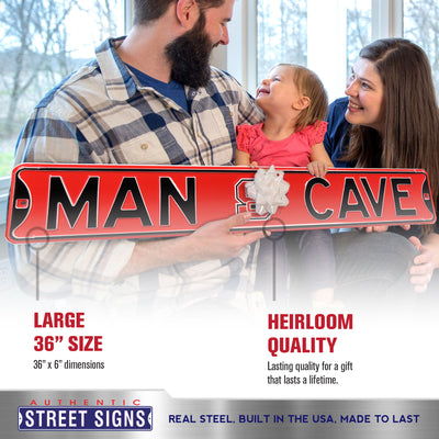 North Carolina State Steel Street Sign with Logo-MAN CAVE