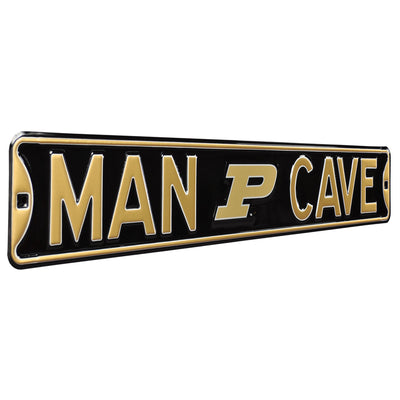 Purdue Boilermakers Steel Street Sign with Logo-MAN CAVE
