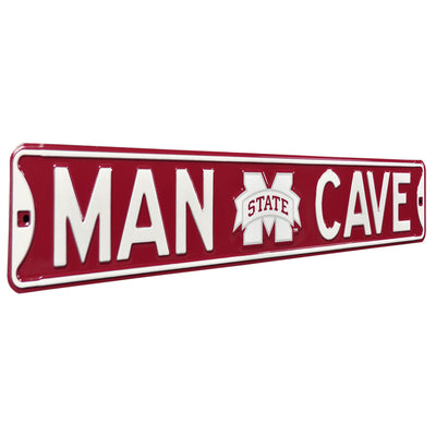 Mississippi State Bulldogs Steel Street Sign with Logo-MAN CAVE