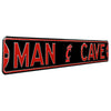 Cincinnati Bearcats Steel Street Sign with Logo-MAN CAVE