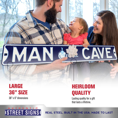 Citadel Steel Street Sign with Logo-MAN CAVE