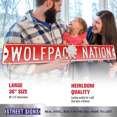 North Carolina State Steel Street Sign-WOLFPACK NATION