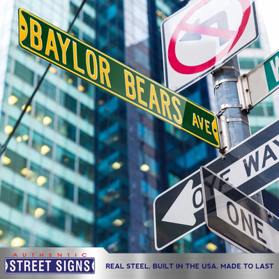 Baylor Bears Steel Street Sign-BAYLOR BEARS BLVD