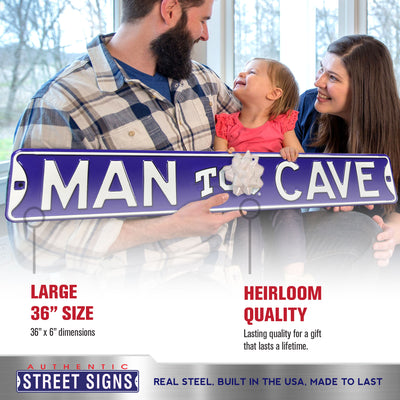 TCU Horned Frogs Steel Street Sign with Logo-MAN CAVE TCU