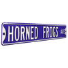 TCU Horned Frogs Steel Street Sign-HORNED FROGS AVE