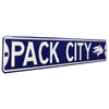 Nevada Wolfpack Steel Street Sign with Logo-PACK CITY