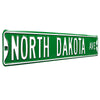 North Dakota Steel Street Sign-NORTH DAKOTA AVE *