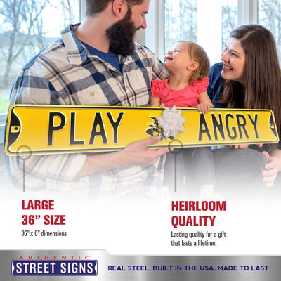 Wichita State Shockers Steel Street Sign with Logo-PLAY ANGRY