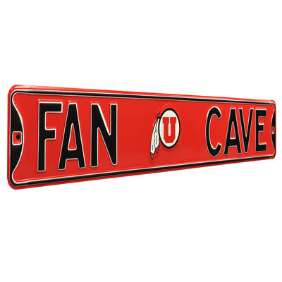 Utah Utes Steel Street Sign with Logo-FAN CAVE