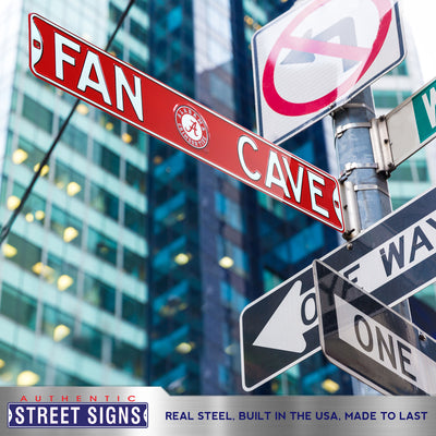 Alabama Crimson Tide Steel Street Sign with Logo-FAN CAVE