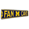 Michigan Wolverines Steel Street Sign with Logo-FAN CAVE