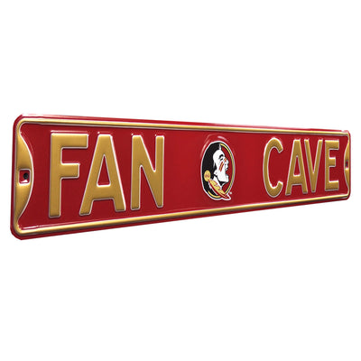 Florida State Seminoles Steel Street Sign with Logo-FAN CAVE