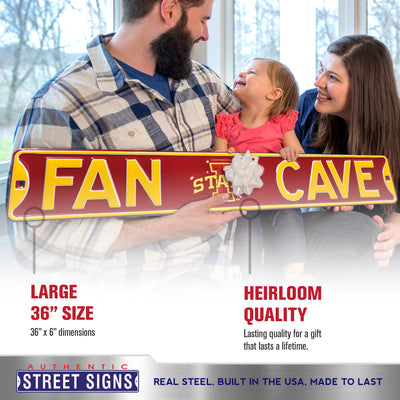 Iowa State Cyclones Steel Street Sign with Logo-FAN CAVE
