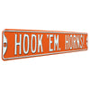 Texas Longhorns Steel Street Sign-HOOK 'EM HORNS