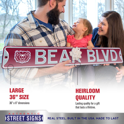 Missouri State Bears Steel Street Sign with Logo-BEAR BLVD