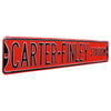 North Carolina State Steel Street Sign-CARTER FINLEY STADIUM