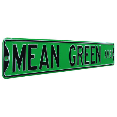 North Texas Eagles Steel Street Sign-MEAN GREEN AVE